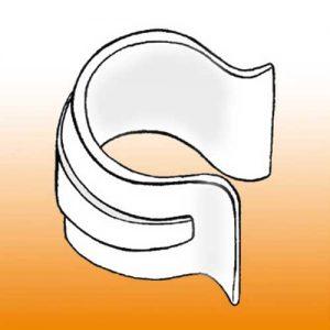 Clip plastique - Référence OMEGA PVC